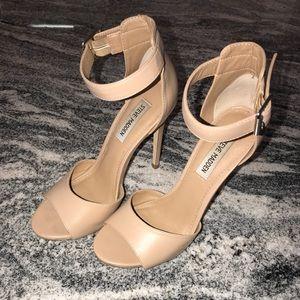 Steve Madden Nude Ankle Strap Sandals